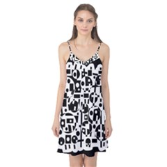 Black and white abstract chaos Camis Nightgown