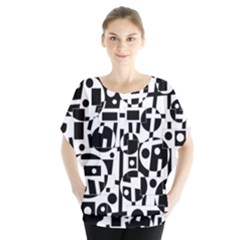 Black and white abstract chaos Blouse