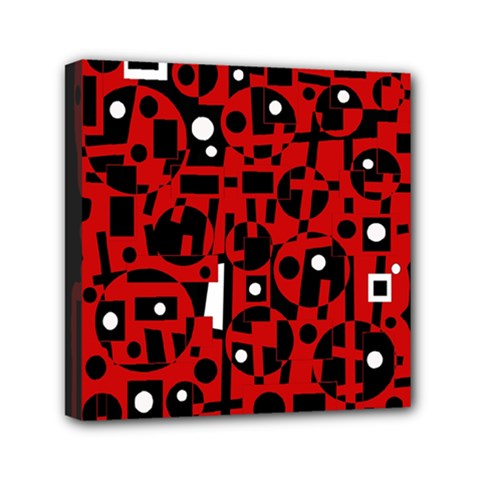 Red Mini Canvas 6  x 6
