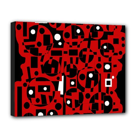 Red Canvas 14  x 11