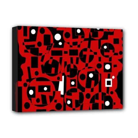 Red Deluxe Canvas 16  x 12