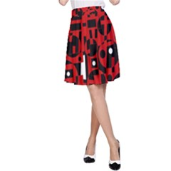 Red A-Line Skirt