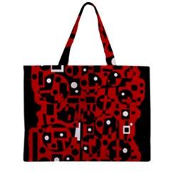 Red Zipper Mini Tote Bag