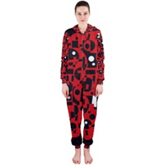 Red Hooded Jumpsuit (Ladies)
