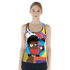 Scissors To My Mind Racer Back Sports Top