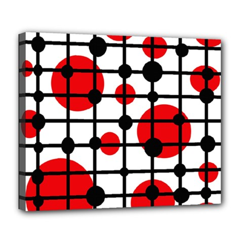Red circles Deluxe Canvas 24  x 20