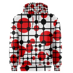 Red circles Men s Pullover Hoodie