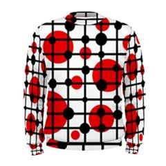 Red circles Men s Sweatshirt