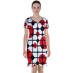 Red circles Short Sleeve Nightdress