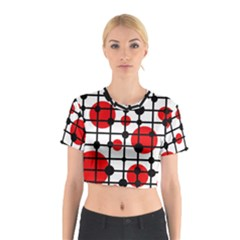 Red Circles Cotton Crop Top