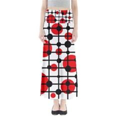 Red circles Maxi Skirts