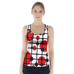 Red Circles Racer Back Sports Top