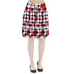 Red circles Pleated Skirt