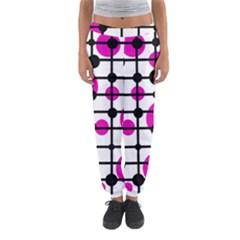 Magenta Circles Women s Jogger Sweatpants