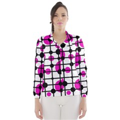 Magenta circles Wind Breaker (Women)
