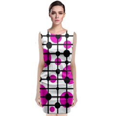 Magenta Circles Classic Sleeveless Midi Dress