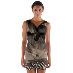 Maggie Chinchillin Wrap Front Bodycon Dress