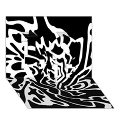Black and white decor LOVE 3D Greeting Card (7x5)