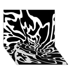 Black and white decor Heart Bottom 3D Greeting Card (7x5)