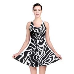 Black and white decor Reversible Skater Dress