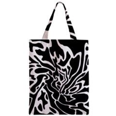 Black and white decor Zipper Classic Tote Bag