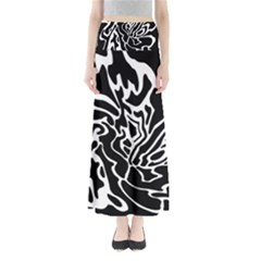 Black And White Decor Maxi Skirts