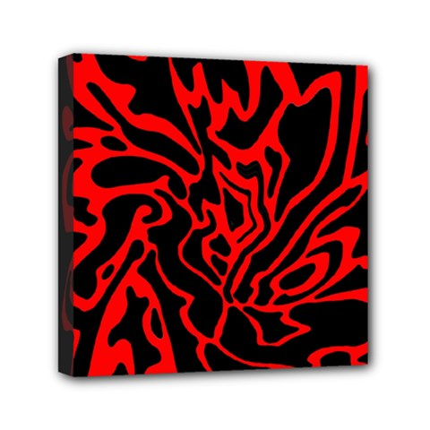 Red and black decor Mini Canvas 6  x 6