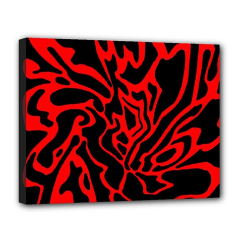 Red and black decor Canvas 14  x 11