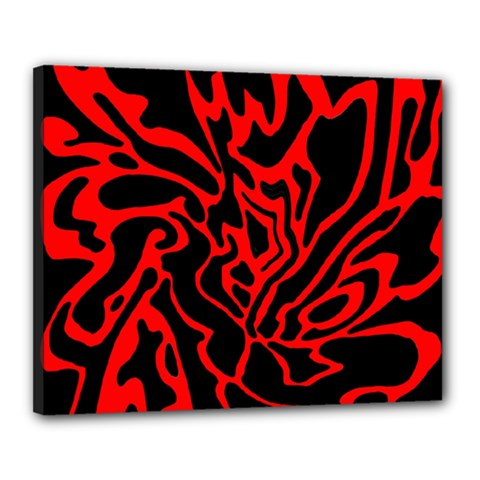 Red and black decor Canvas 20  x 16