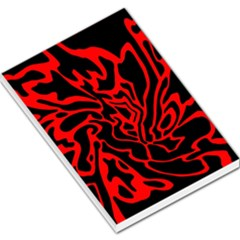 Red and black decor Large Memo Pads