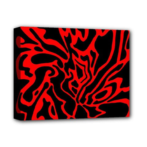 Red and black decor Deluxe Canvas 14  x 11