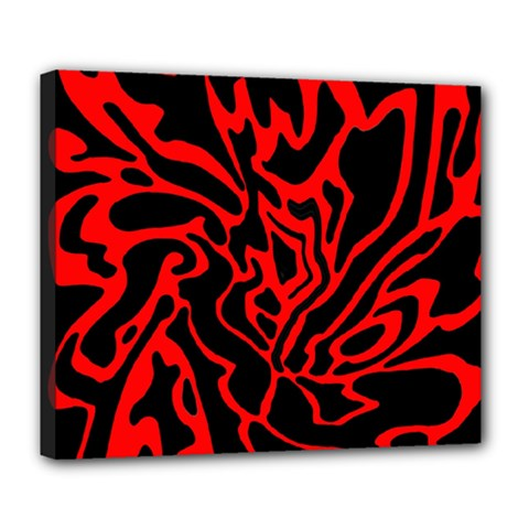 Red and black decor Deluxe Canvas 24  x 20