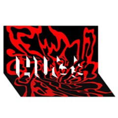 Red and black decor HUGS 3D Greeting Card (8x4)