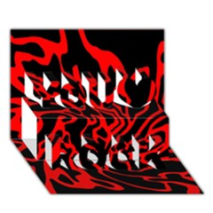 Red and black decor You Rock 3D Greeting Card (7x5)