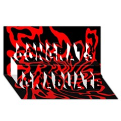 Red and black decor Congrats Graduate 3D Greeting Card (8x4)