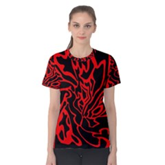 Red and black decor Women s Cotton Tee