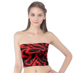 Red and black decor Tube Top