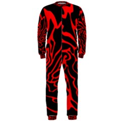 Red and black decor OnePiece Jumpsuit (Men)