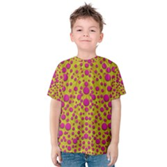 Fantasy Feathers And Polka Dots Kid s Cotton Tee
