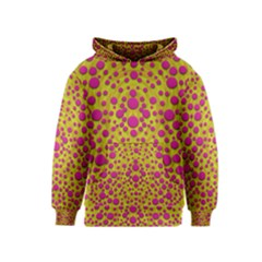 Fantasy Feathers And Polka Dots Kids  Pullover Hoodie