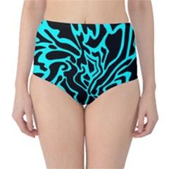 Cyan decor High-Waist Bikini Bottoms