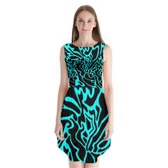 Cyan Decor Sleeveless Chiffon Dress