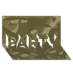 Green Camo Pattern PARTY 3D Greeting Card (8x4)