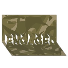 Green Camo Pattern ENGAGED 3D Greeting Card (8x4)