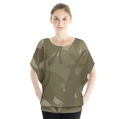 Green Camo Pattern Blouse