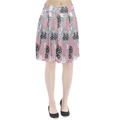 Pink Pixel Camo Pattern Pleated Skirt