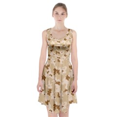 Desert Camo Pattern Racerback Midi Dress
