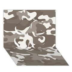 Urban Camo Pattern Clover 3D Greeting Card (7x5)