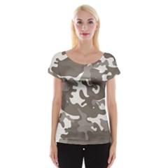 Urban Camo Pattern Women s Cap Sleeve Top