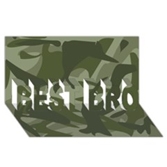 Green Camouflage Pattern BEST BRO 3D Greeting Card (8x4)